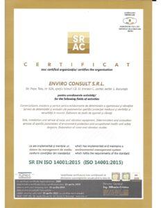 Certificare ISO 14001